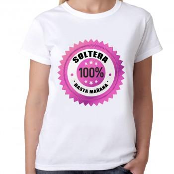 Camiseta despedida soltera 100% soltera