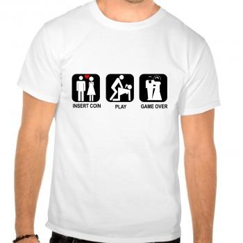 Camiseta despedida soltero insert coin