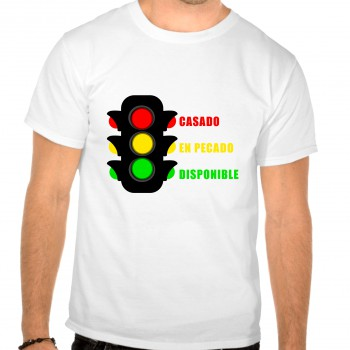 Camiseta despedida soltero semaforo