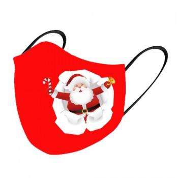 Mascarilla tela lavable Papa Noel