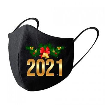 Mascarilla tela lavable feliz 2021