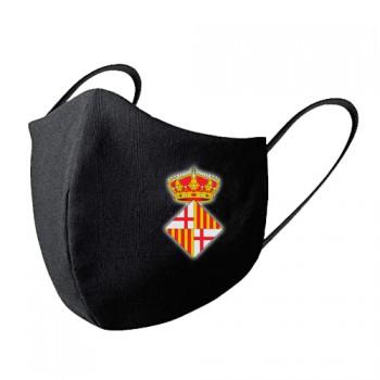 Mascarilla tela lavable escudo Barcelona