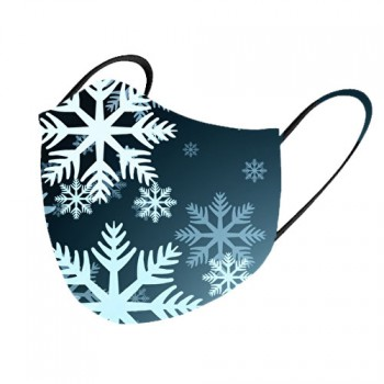 Mascarilla tela lavable copos de nieve