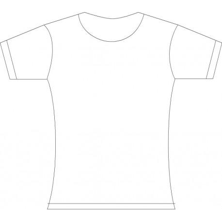 Camiseta Mujer Entallada-cuello redondo