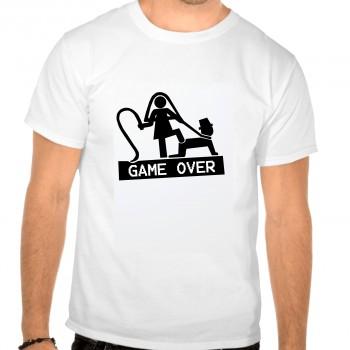 Camiseta despedida soltero game over