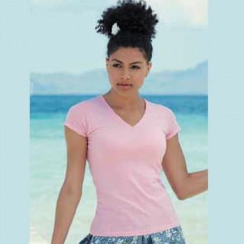 Camiseta Mujer Personalizable Entallada-cuello pico
