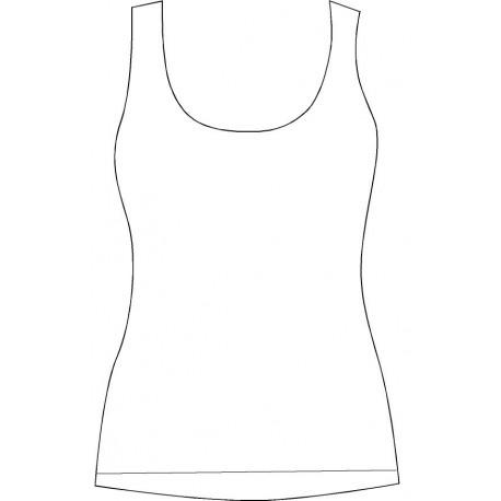 Camiseta Mujer Personalizable Tirantes-espalda mariposa