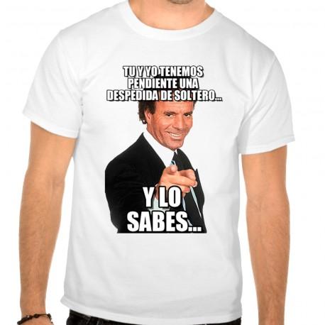 Camiseta despedida soltero tu y yo